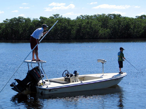 striper fishing skiff