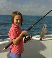 Kids fishing Islamorada