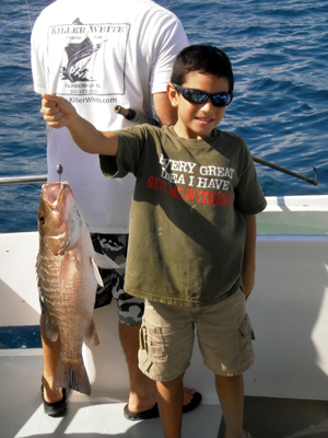 Kids fishing Florida Keys