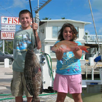 Islamorada kids fishing