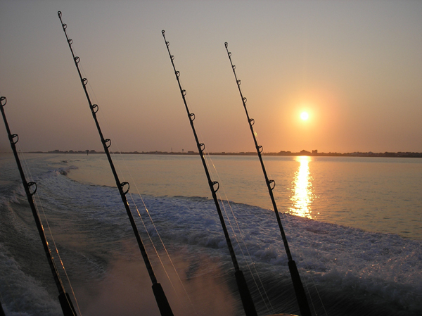 NC sunset fishing
