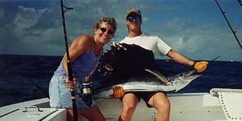 woman with sailfish